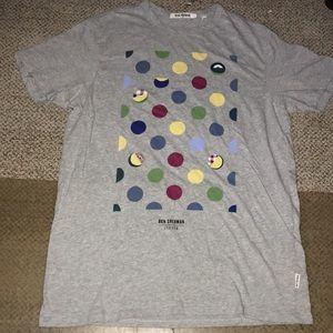 BEN SHERMAN unisex geo design T Shirt EUC